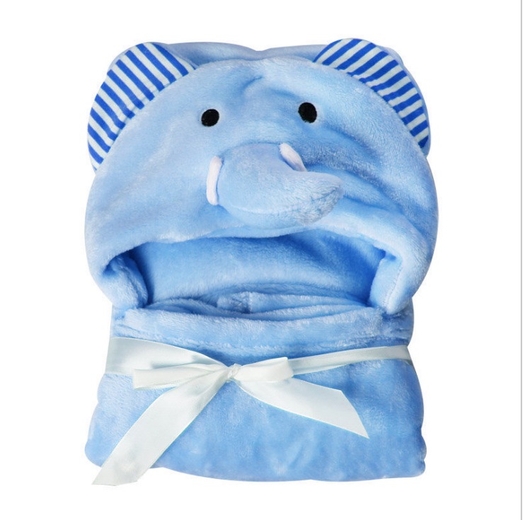 absorbent animal shaped baby towel elephant kids hooded bath towel