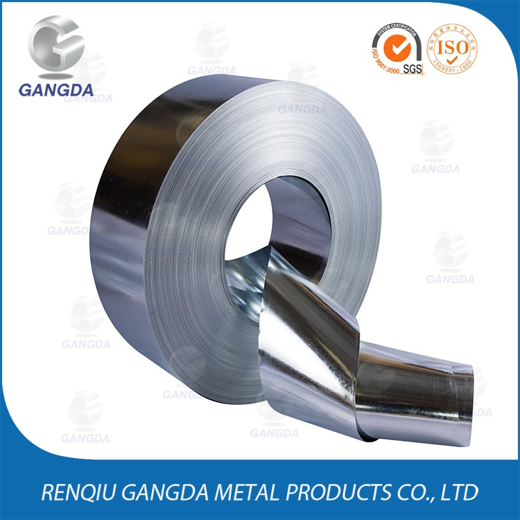 Anti Corrosion galvanized steel belt banding zinc coated iron coil for steel construction