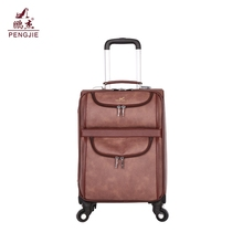 2017 hot sale high quality pu vip vogue vintage urban trolley bag price
