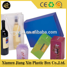 Recycle Use Custom Packaging Wine Glass Folding Plastic Clear Box