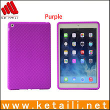 Rugged texture shockproof high impact for ipad air silicone case