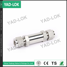 "YAD-LOK Bite Type 1/4"" OD NPT SS316 Male Connector Square Stainless Steel Tube Fitting"
