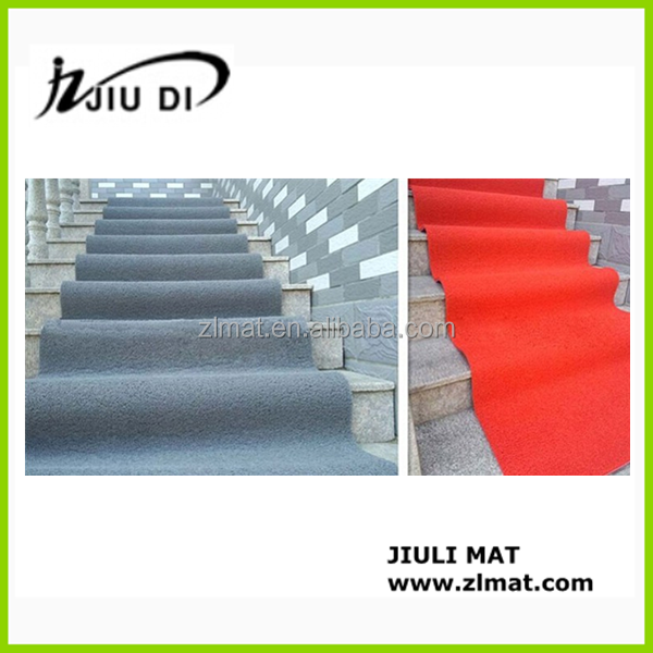 Waterproof anti-skiding colorful rubber stair mats for hotel