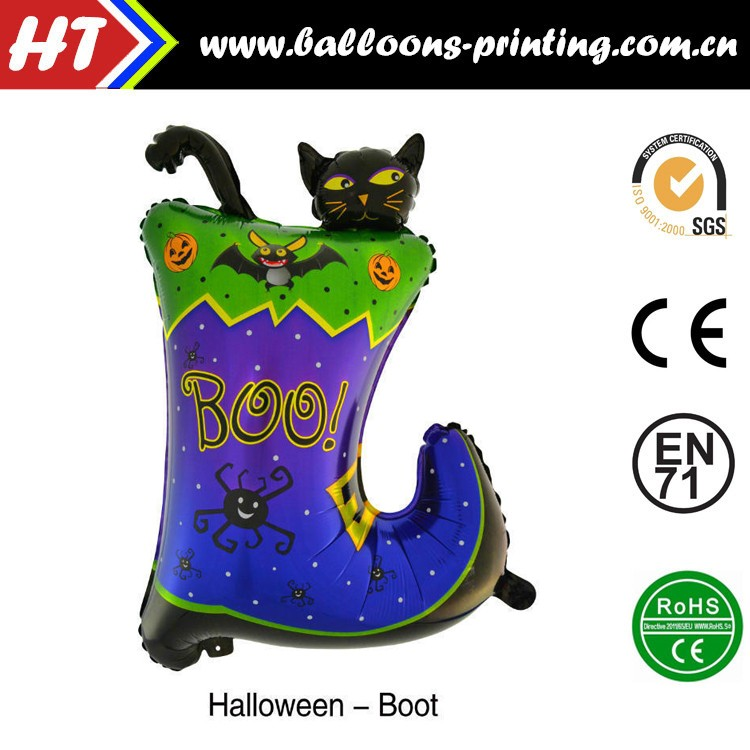 2016 Wholesale Pumpkin /Bat /Skull/ Wizard/Black Cat Various Halloween Helium Balloons For Halloween Party