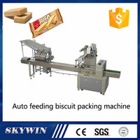 China Factory Biscuits Cookies Flow Packing Machine Price
