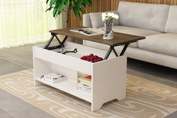Modern adjustable coffee table lift wooden tea table design China factory wholesale