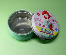 OEM Seamless aluminum round metal canister tins box can for lip balm candles tin can box