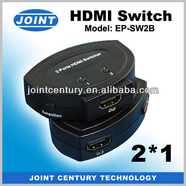 2 inputs 1 output HDMI Switcher Support 3D, 1080P