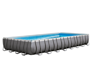 INTEX 28352 large inflatable adult bathtub Ultra Metal steel Frame Swimming Pool Set for above ground swimming pools