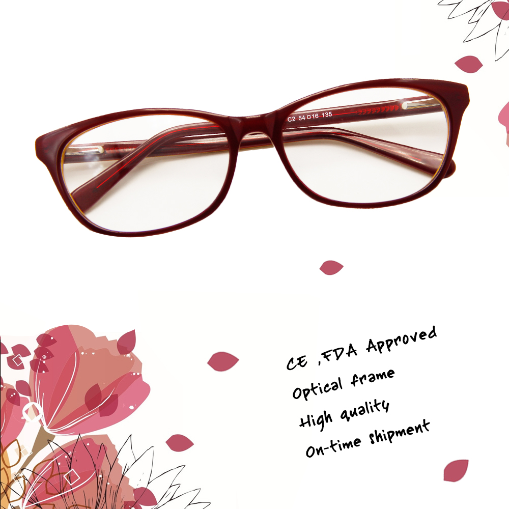 2017 Bright Color Best Quality Acetate Rubber Frame for Glasses
