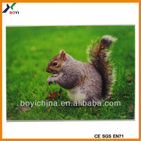2014 hot selling cheap custom lenticular 3d pictures of animals