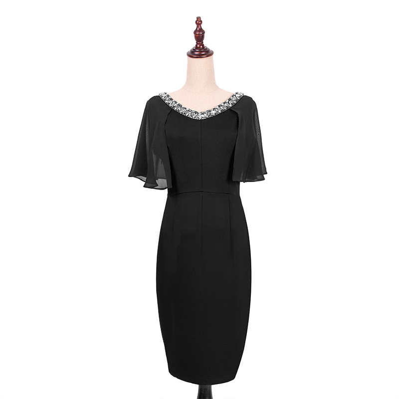 Maxnegio latest casual dress designs ladies office wear dresses beaded dress