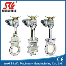 6 inch stainless steel electric actuator knife gate valve with best price