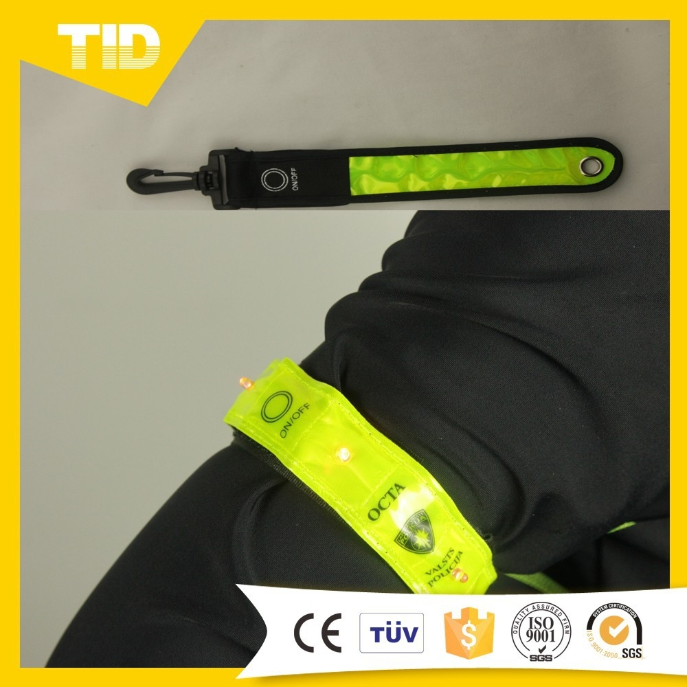 2015 Hot Sale Fluorescent Reflective Professional Elastic Armband