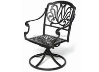 Antique Bronze Bar Rotating Single Cast Aluminum Swivel Chair