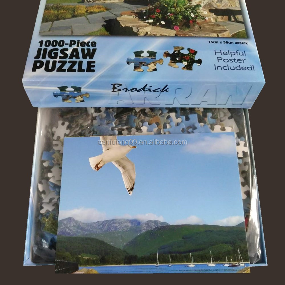 Wholesale custom jigsaw puzzle 1000 piece puzzle for adults