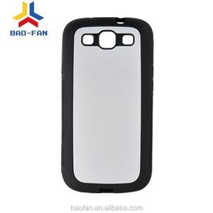 2D sublimation soft TPU cell phone case with metal sheet for samsung galaxy S3