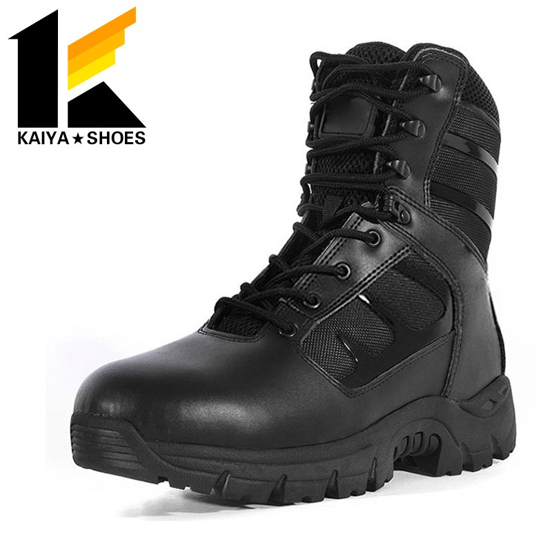 high traction rubber outsole full grain leather military army <strong>boots</strong> for men