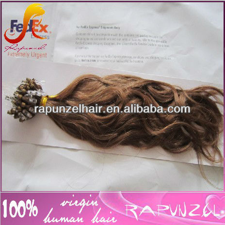 Hot sale loose wave Indian micro ring hair extension/easy loop hair