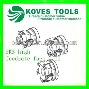 milling cutter face mill tool SKS high feedrate face mill
