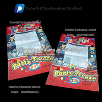 Balloon plastic bag with window/High quality plastic bags with window