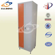 Cheap bedroom furniture 2 door steel file cabinet/ clothes wardrobe