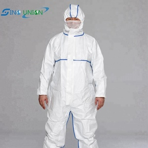 high quality SF disposable non-woven safety coveralls with hood