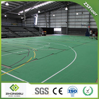 ZSFloor Removable plastic PP flooring for basketball Court