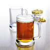 Haonai Factory directly beer mug, 500ml beer mug,glass beer cup with handles