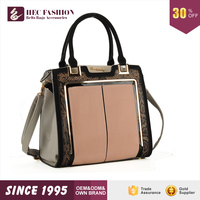 HEC Chinese Manufacturer Wholesale Metal Decorations Sublimation Replica Tote Bag Handbag