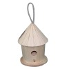 Hanging small wooden bird cage for kitchen embellishment