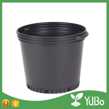 made in china tall black plastic 15 gallon nursery planters pot for shrubs