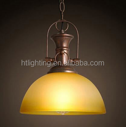 Retro crystal pendant light glass pendant lamps