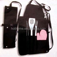 2017 promotional kitchen newly BBQ pattern apron with many tool pockets