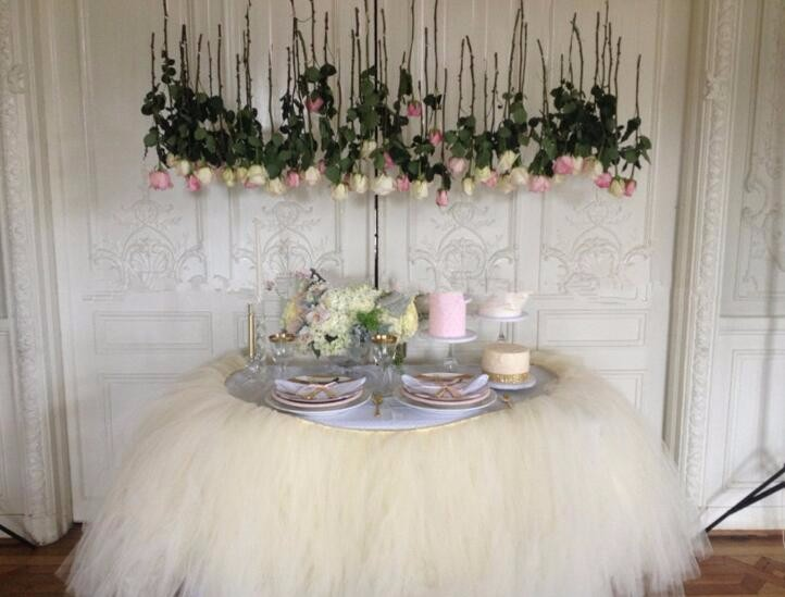 15CM * 100Y Tulle Tutu Table Skirt Wedding Decorate Birthday Wedding Baby Shower