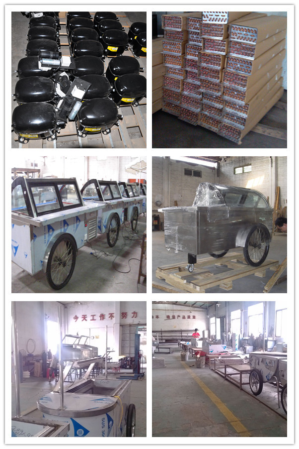 Beach trolley cart /Trailer Food Vending Cart/ Ice Cream Cart For Sale