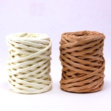 Wholesale Christmas gift packaging wired string paper raffia ribbon
