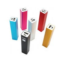 Mini charger 2200mah 2600mah lipstick portable power bank