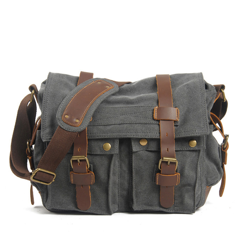 YD-3222 school messenger mens canvas shoulder bag