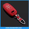Plastic leather key cover For audi smart key cases 3bautton