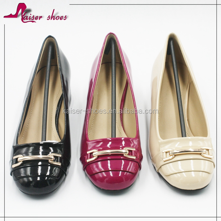SSK16-615 ROUND TOE HIGH HEEL LOW PRICE HIGH QUALITY FASHION PUMP LADY SHOE