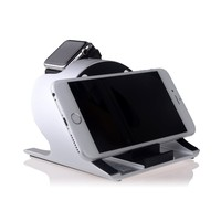 2 in 1aluminum 360 degree rotation cell phone stand holder display dock for apple watches for iphone for ipad