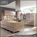 Embedded kitchen appliance fashionable wooden kitchen cabinet design