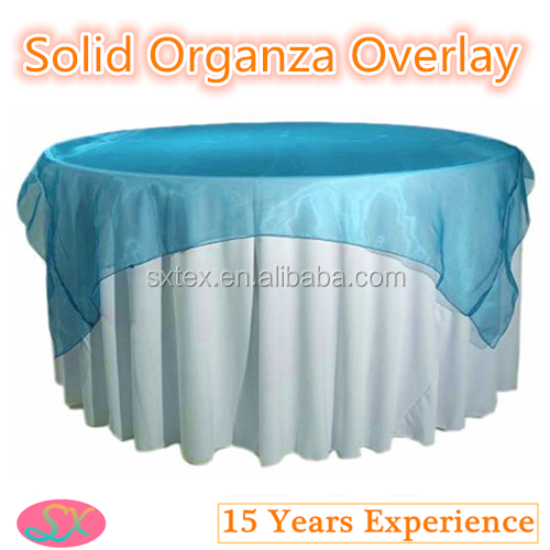 100%Polyester Solid Organza Table Overlay Fancy Organdy Overlay
