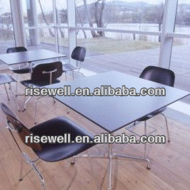Modern formica laminate top dining room table