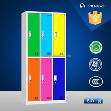 modern design colorful hot sale high quality detachable single door steel locker/cabinet with mirror
