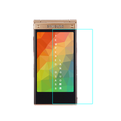LANGOU tempered glass screen protector with design for mobile phone for samsung galaxy w2014 with high quality