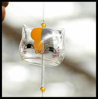 Wind chimes glass bells indoor lovely cat christmas decoration
