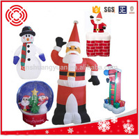 2015 hot saling inflatable santa claus , indoor & outdoor decoration