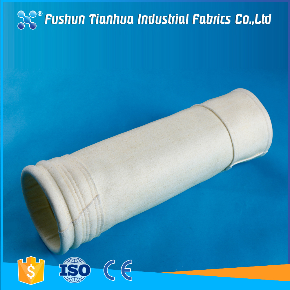 Acrylic non-woven fabric dust filter bag for coal mill industries